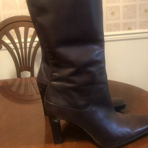 Leather knee boots size 9.5